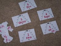 """""""A is for ant"""" counting game. Put the correct number of ants on each sheet."""
