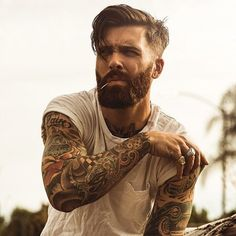 Levi Stocke being dapper - full thick beard and mustache beards bearded man men mens' style suit dressy hair hairstyle model handsome Best Undercut Hairstyles, Undercut Men, Undercut Styles, Hairstyles Haircuts, Hipster Hairstyles Men, Hipster Haircut, Mens Hairstyles With Beard, Hipster Beard, Latest Hairstyles