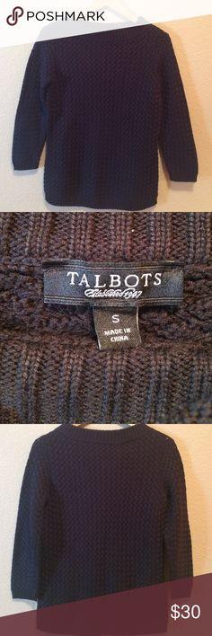 Talbots beautiful sweater Macrame look sweater, dressy or casual. NWOT Talbots Sweaters