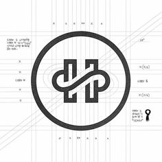 59 Ideas For Design Portfolio Graphicdesign Initials Logo, Monogram Logo, Brand Identity Design, Branding Design, Logo Branding, Corporate Branding, Logo Tutorial, Learning Logo, H Logos