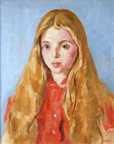 """Philip Naviasky, """"Portrait of a Young Girl"""""""