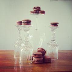 NEW! Double Chocolate macarons  {chocolate macaron shells with dark chocolate ganache}