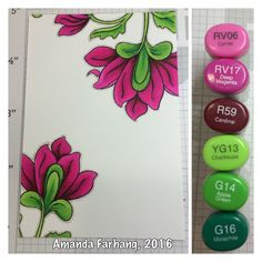 Colored by Amanda Farhang. Using Altenew's Persian Motifs photopolymer stamp set. Inked with MFT stamps black licorice hybrid ink and colored with copic sketch markers.