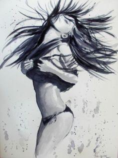 Dance 1-Original Watercolor Painting