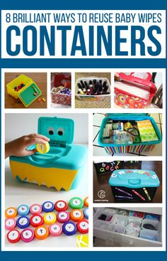 8 Brilliant Ways to Reuse Baby Wipes Containers