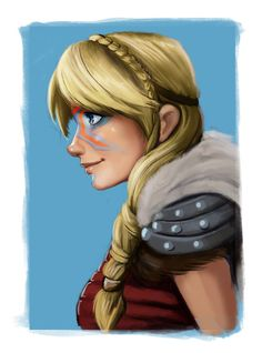 Whoever made this artwork of my Valkyrie did an awesome job. Astrid looks like a goddess of war and beauty. :-)