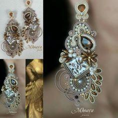 Soutache Necklace, Tassel Earrings, Ring Earrings, Shibori, Beaded Embroidery, Boho Jewelry, Macrame, Free Pattern, Diy And Crafts