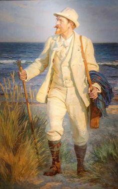 Portrait of painter Peder Severin Kroyer, 1904 by Laurits Tuxen (Danish 1853-1927)
