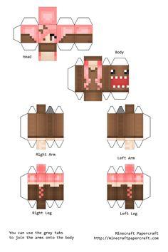 Papercraft Domo Girl