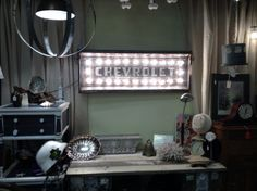 Vintage Chevrolet tailgate marquee light by Atomic Rust