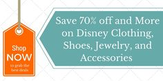 Save 70% & MORE on Disney clothing, accessories, shoes,  and jewelry Baby, kids, and adults. http://amzn.to/1qebrG4?utm_campaign=coschedule&utm_source=pinterest&utm_medium=Baby%20to%20Boomer%20Lifestyle