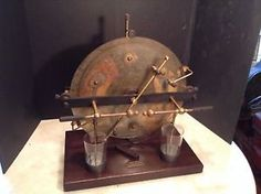 Antique Wimshurst Lab Equipment Electric Demo Knoll Apparatus Co. Cambridge Mass