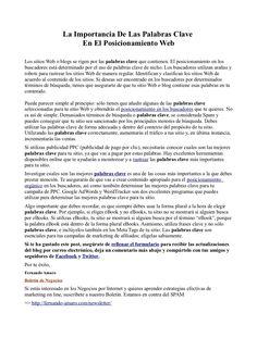 la-importancia-de-las-palabras-clave-en-el-posicionamiento-web by Fernando Amaro via Slideshare