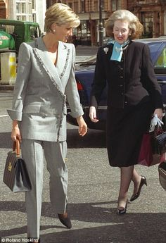 Diana with her stepmother, Raine Spencer.