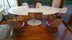 Tavolo allungabile - Tavolo da pranzo ovale o rotondo con piano allungabile in…