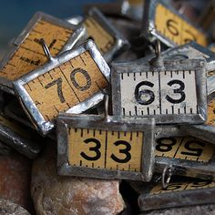 charms made from a vintage ruler... JEWELRY by CoolVintage, $5.50