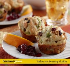 Turkey and Dressing Fluffins are a delicious way to use up leftovers