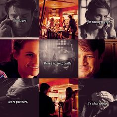 Castle and Beckett that's what they do