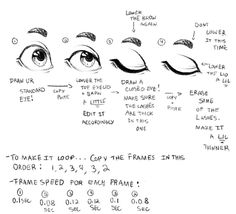 A Quick Blinking Animation Tutorial by VileBile on DeviantArt Learn Animation, Animation Reference, Drawing Reference, Drawing Base, Drawing Tips, Drawing Stuff, Animation Sketches, Art Sketches, Cyberpunk City