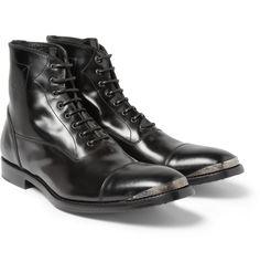 Alexander McQueenMetal Toe Cap Leather Boots MR PORTER
