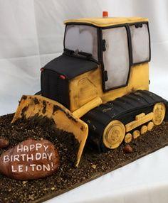 Bull Dozer cake Caterpillar construction themed birthday cake   Construction Birthday Cake - Heavy Equipment Cake #CATEQUIPMENT