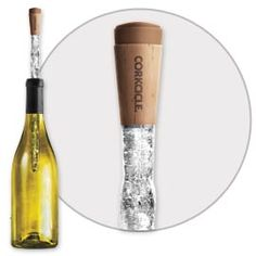 Corkcicle keeps wine at perfect temperature without a drippy ice bucket.