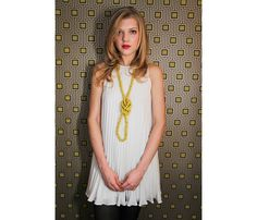 {Silk Rope Necklace} Mercer Harp - fab statement necklace; great layered with other colours too