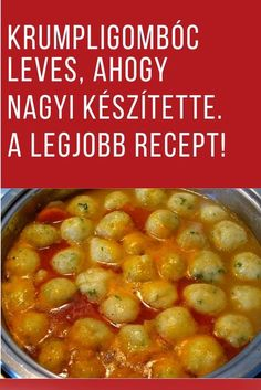 Soup Recipes, Vegetarian Recipes, Cooking Recipes, Hungarian Recipes, Food Humor, World Recipes, Street Food, Food Inspiration, Food Videos