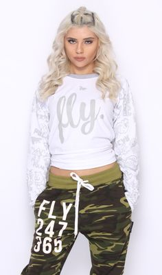 FINALLY... FLY. Raglans are here! These are eye catching shirts with our printed pattern sleeve will sure make you the focus on any conversation. You will love these. LIMITED SIZES AVAILABLE! 100% cot