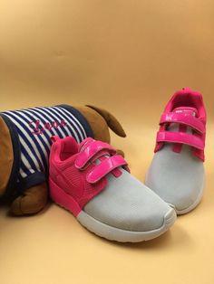 f4f18a2768ca 2016-2017 Newest Trainers Magic buckle Nike Roshe Run Kids White Hyper Pink  Jordan
