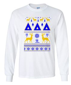 Delta Delta Delta Ugly Christmas Sweater Long Sleeve T-Shirt