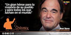 """Oliver Stone acerca de Chávez: """"Un gran héroe para todos los que lucha en el mundo"""" #MarzoEnHonorAChavez"""