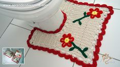 Jogo de Banheiro em Crochê Nature - Tapete do Vaso