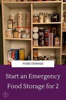 Tips for starting an emergency food storage for 2 people. Emergency food supply tips for a family of 2. Tips for small family food storage. | disaster food supply | disaster food storage |
