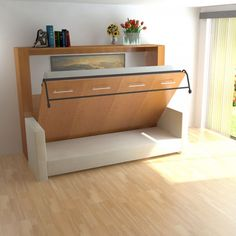 Horizontal Murphy Bed / Sofa combo