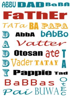 Free printable- Father's Day Subway Art | Craftionary