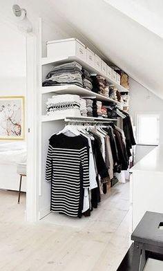 organizar roupas sem armário