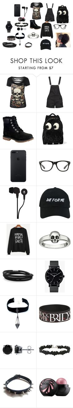 """darkness"" by chayluvcc ❤ liked on Polyvore featuring Boohoo, Timberland, Anya Hindmarch, Skullcandy, Nasaseasons, King Baby Studio, BillyTheTree, The Horse, Child Of Wild and BERRICLE"