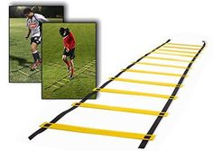 Teenitor 12 rung Agility Ladder Speed ladder Training ladder for Soccer Speed Football Fitness Feet Training with Teenitor Carry Bag *** Read more at the image link.