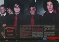 to addresses in a ghost town — bulletsalbum: via Black Velvet Magazine My Chemical Romance Tumblr, Twenty One Pilots Live, Sweet Revenge, Band Pictures, Frank Iero, Gerard Way, Emo Bands, Denial, Romans