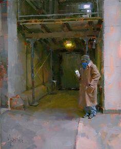Paper Cup Blues by Jennifer McChristian Oil ~ 16 x 12