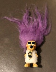 Vintage 1960s Royal Designs Dog Troll Doll Purple Hair original outfit 1967 60s Toys, Royal Design, Troll Dolls, Instagram Shop, Purple Hair, Dog Design, Trinidad And Tobago, 1960s, The Originals