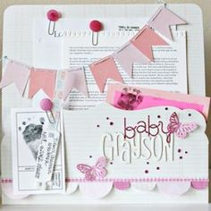 new baby scrapbook page  - shannon tidwell's