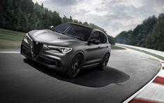 Download imagens Alfa Romeo Stelvio, 2018, Trevo de quatro folhas, pista de corridas, SUV desportos, ajuste de Stelvio, Carros italianos, Alfa Romeo