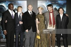 Cast members (L-R) Djimon Hounsou, Ed Speleers, John Malkovich, Sienna Guillory, Jeremy Irons and Robert Carlyle arrive at the world premiere of 'Eragon' at Odeon Leicester Square on December 11, 2006 in London, England.