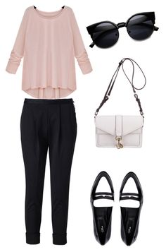 """""""Spring night - Elegantly casual"""" by beefashionable on Polyvore featuring Mode, WHIITE, Blink, Rebecca Minkoff, women's clothing, women, female, woman, misses und juniors"""