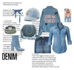 """Denim, what else?"" by enna-petranovic ❤ liked on Polyvore featuring Charlotte Russe, Cara, Frame, SO, Gianvito Rossi, LE3NO and Casetify"