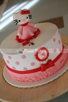 hello kitty cake , hello kitty pasta , birthday cake, third birthday cake, üç yaş pastası, kız çocuk pastası, doğum günü pastası