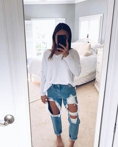 25 Great Spring-Summer Outfits To Copy Now Casual School Outfits, Cute Comfy Outfits, Teenage Outfits, Teen Fashion Outfits, Cute Casual Outfits, College Outfits, Simple Outfits, Look Fashion, Outfits For Teens