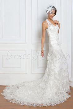 Dresswe.comサプライ品プリティなチャペルレナータのウェディングドレス トランペット/マーメイド ティアード  ウェディングドレス2014